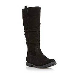 Roberto Vianni - Black 'Tidings' slouched knee high boot
