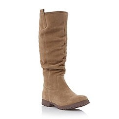 Roberto Vianni - Taupe 'Tidings' slouched knee high boot