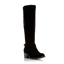 Roberto Vianni - Black 'Tawnie' buckle detail stretch knee boot