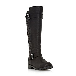 Roberto Vianni - Black 'Tattler' quilted knee high boot