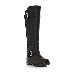 Roberto Vianni - Black 'Tattler' quilted knee high boot
