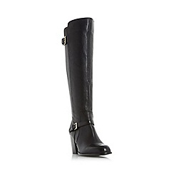 Roberto Vianni - Black 'Tudor' double buckle knee high boot