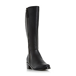 Roberto Vianni - Black 'Tilton' side zip knee high boot