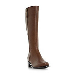 Roberto Vianni - Tan 'Tilton' side zip knee high boot