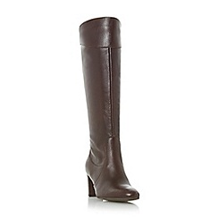 Roberto Vianni - Maroon 'Sivarna' block heel leather knee high boot