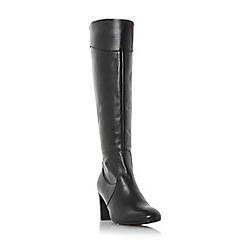 Roberto Vianni - Black 'Sivarna' block heel leather knee high boot