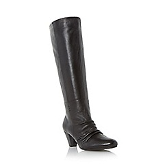Roberto Vianni - Black 'Sabra' ruched detail knee high boot