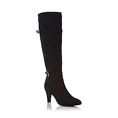 Roberto Vianni - Black 'Shannon' double buckle heeled boot