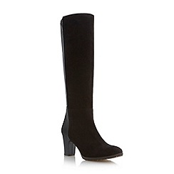 Roberto Vianni - Black two tone mid heel knee high boot