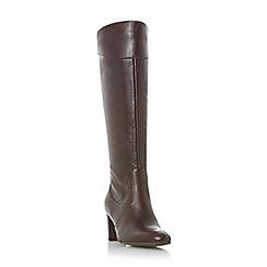 Roberto Vianni - Maroon 'Sivarna' block heel leather knee high boots
