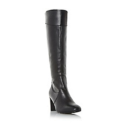 Roberto Vianni - Black 'Sivarna' block heel leather knee high boots