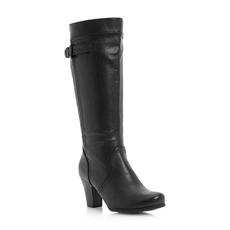Roberto Vianni - Black High Leg Block Heel Boot