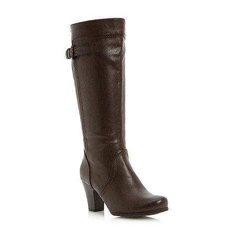 Roberto Vianni - Dark brown high leg block heel boots