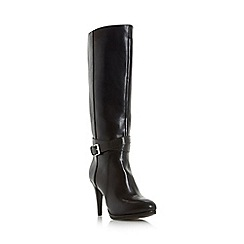 Roberto Vianni - Black 'Syglon' reptile print heeled boot