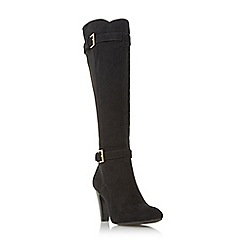 Roberto Vianni - Black 'Sherma' buckle trim knee high boot