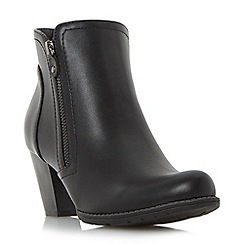 Roberto Vianni - Black 'Preslie' zip detail ankle boot