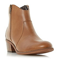 Roberto Vianni - Tan 'Padly' western zip ankle boot