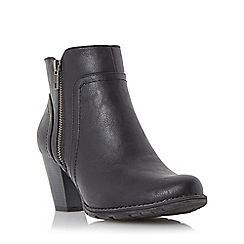 Roberto Vianni - Black 'Pristine' side zip ankle boot