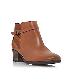 Roberto Vianni - Tan 'Pearcy' elastic panel leather ankle boot