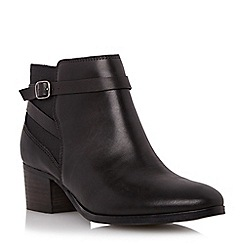 Roberto Vianni - Black 'Pearcy' elastic panel leather ankle boot