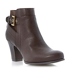 Roberto Vianni - Brown buckled strap detail heeled ankle boot