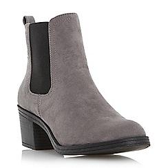 Roberto Vianni - Grey 'Peddler' block heel chelsea boot