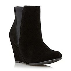 Roberto Vianni - Black 'Odette' suede wedge heel ankle boot