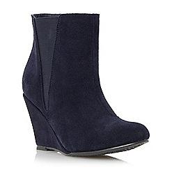 Roberto Vianni - Navy 'Odette' suede wedge heel ankle boot