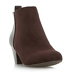 Roberto Vianni - Brown 'Pello' mixed material ankle boots