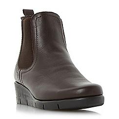 Roberto Vianni - Brown 'Parklan' comfort wedge heel chelsea boot