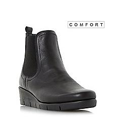 Roberto Vianni - Black 'Parklan' comfort wedge heel chelsea boot