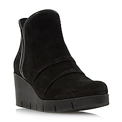Roberto Vianni - Black 'Pashelle' comfort ruched wedge boot