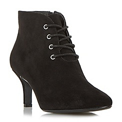 Roberto Vianni - Black 'Onie' pointed toe lace up ankle boot