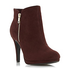 Roberto Vianni - Maroon 'Opia' side detail dressy ankle boot