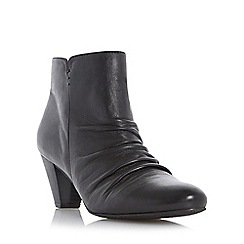Roberto Vianni - Black 'Olio' ruched detail mid heel ankle boot
