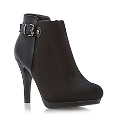 Roberto Vianni - Black contrast texture slim platform heel ankle boot