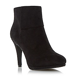 Roberto Vianni - Black cuff detail high heel ankle boot