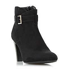 Roberto Vianni - Black 'Olina' buckle strap ankle boot