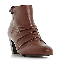 Roberto Vianni - Brown 'Ornita' buckle detail ruched ankle boots
