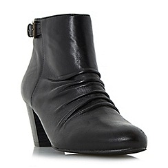 Roberto Vianni - Black 'Ornita' buckle detail ruched ankle boot