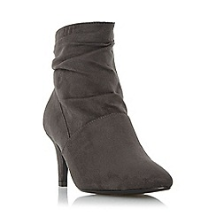 Roberto Vianni - Grey 'Osa' ruched mid heel ankle boot