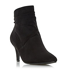 Roberto Vianni - Black 'Osa' ruched mid heel ankle boot