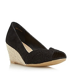 Roberto Vianni - Black 'Claudio' peep toe espadrille wedge court