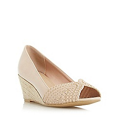 Roberto Vianni - Natural 'Claudio' peep toe espadrille wedge court