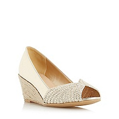 Roberto Vianni - Gold 'Claudio' peep toe espadrille wedge court