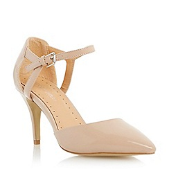 Roberto Vianni - Neutral two part mid heel court shoe