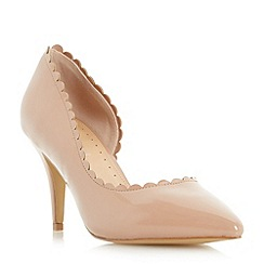 Roberto Vianni - Natural 'Claric' scallop detail semi d orsay court shoe