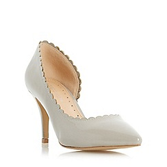 Roberto Vianni - Grey 'Claric' scallop detail semi d orsay court shoe