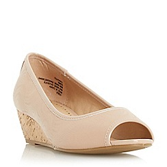 Roberto Vianni - Natural 'Chapley' cork wedge peep toe court shoe