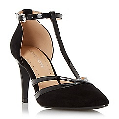 Roberto Vianni - Black 'Clarey' pointed toe t-bar court shoe